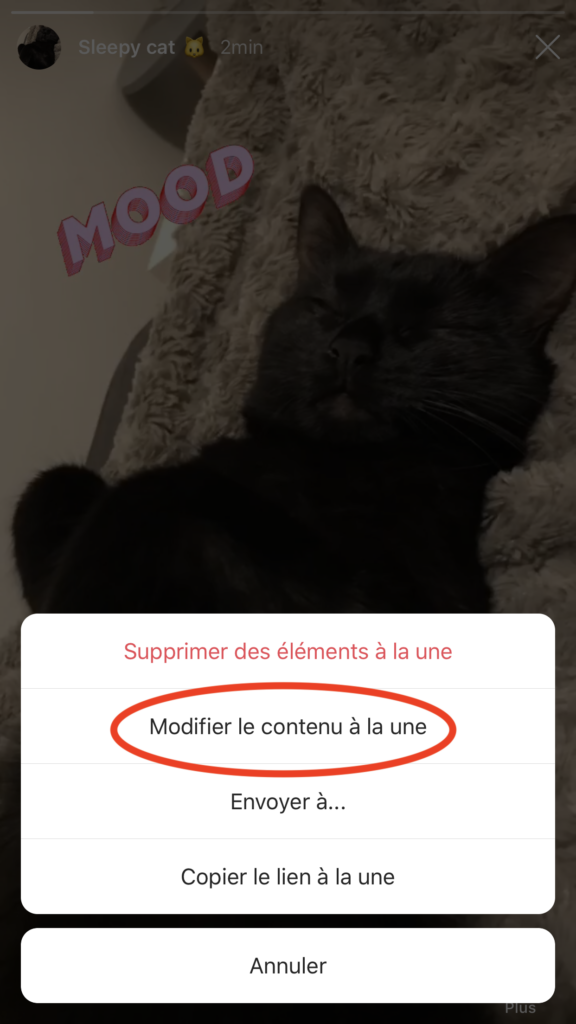 stories à la une instagram